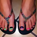 My Colorful Pedi With Double Tips