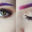 Pastel eyebrow ombre