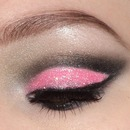Pink Cut Crease Look With Glitter