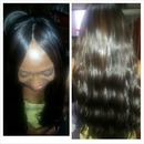 client hair Brazilian loose waves with invisible parting