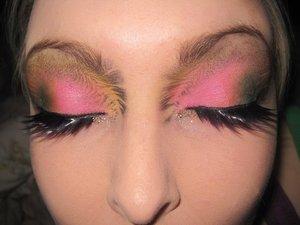 Pyscho Zebra, A colourful makeup look