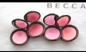 Review & Swatches: BECCA Shimmering Skin Perfector Luminous Blushes | Dupes!