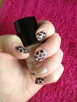 Leopard and gold glitter