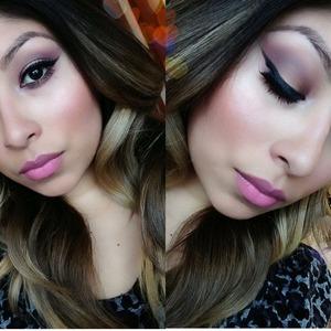 I love eyeliner bh cosmetics shadows  and Mac lipstick viva glam Nicki n crime d nude
