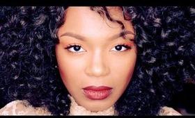 Fall Makeup: Orange Eyes + Deep Red Lips | Fixed on Drama
