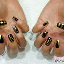 Mixed Prints On Black & Gold