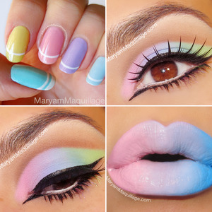 a collage of some of my pastel looks :) www.MaryamMaquillage.com