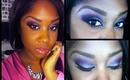 purple eyeshadow makeup tutorial for brown eyes