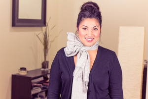 Winter Scarf Style : Half bow Watch my new video - 4 cute ways to wear your winter scarf <3