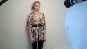Behind the scenes shot from the shoot with Christina at Ford Models... Hair & makeup Kelley Farlow