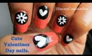 Valentines day nail design tutorial.