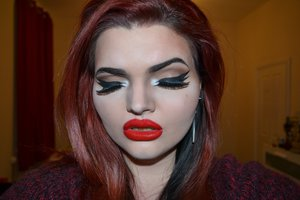 Makeup inspired by the drag queen Adore Delano.