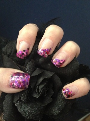 Love my nail lady!! These might be my favorite! Sculpted with hand mixed glitters
