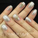 Gelish Night Shimmer with NailNation 3000 Silver Hologasm and Megamix