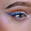 Blue ombré speckle liner!