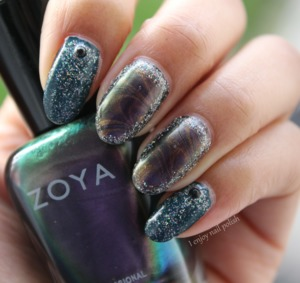 http://www.ienjoynailpolish.com/2016/02/glittery-multi-chromatic-nails.html