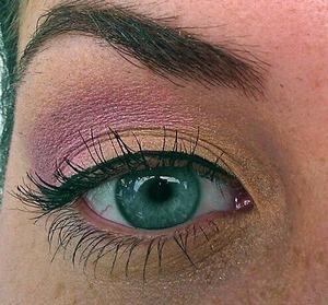 Pink and orange eyes