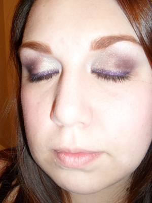 other MAC products used are: baby petals from heatherette trio cassette, MAC intoxicate eyeshadow.MAC blush-fashion frenzy from the fafi collection, MAC shadestick-cuddle