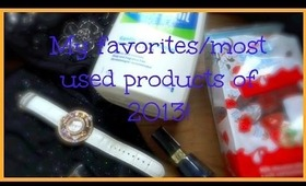 My favorites products/most used of 2013!