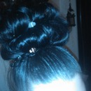 Messy Modified Pin Curl Up Do