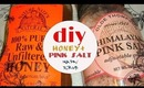 DIY : (Easy and quick) honey+pink salt mask/scrub ( acne prone skin)