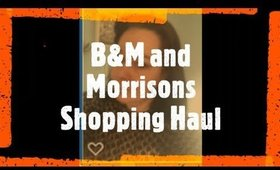 B&M and Morrisons Food Shopping Haul - Isolation Diary Day 1