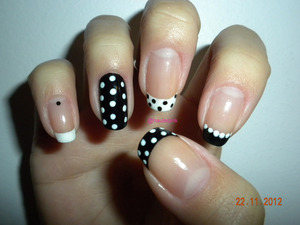 A play on classic black and white dots