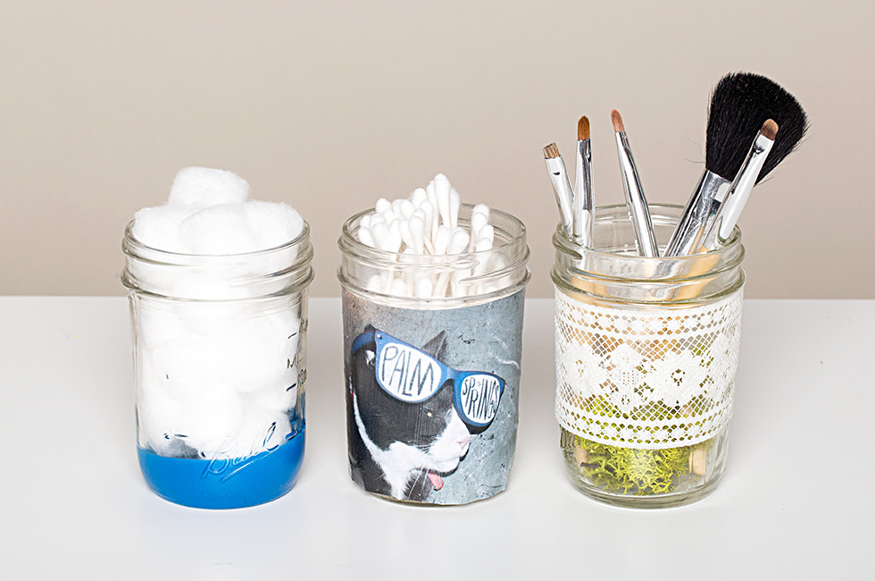Superb DIY Makeup Storage Jars