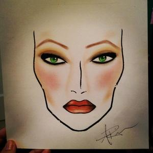 My very first face chart. VERY rough! lol