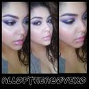 Purple Gold Eye Makeup