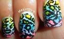 Rainbow Leopard Nails! / Uñas de leopardo