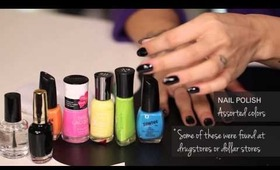HOW TO: Splatter Design Your Nails