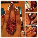 Trinidad flag nails