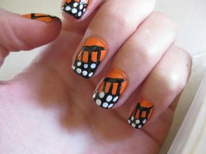 Monarch Butterflies Tutorial: Monarch Butterfly Nail Art Design - by cutepolish on  Youtube