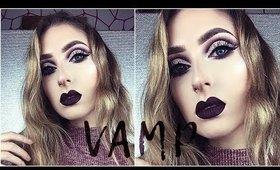 Fall Cut Crease with A Vampy Lip ♡ BeautyyBird Inspired Makeup Tutorial