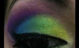 Peacock inspired make up