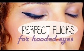 HOW TO - WINGED EYELINER FOR HOODED EYES