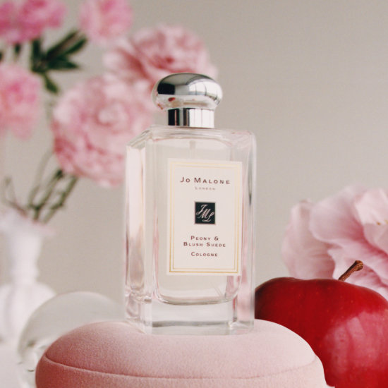 Alternate product image for Peony & Blush Suede Cologne shown with the description.