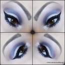 Soft purple plum eyeshadow