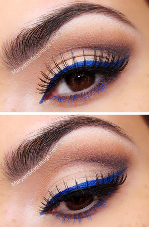 Perfect for Hanukkah! Tutorial on ze blog: http://www.maryammaquillage.com/2012/11/bluesy-neutrals_30.html