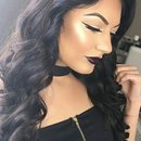 black lip look