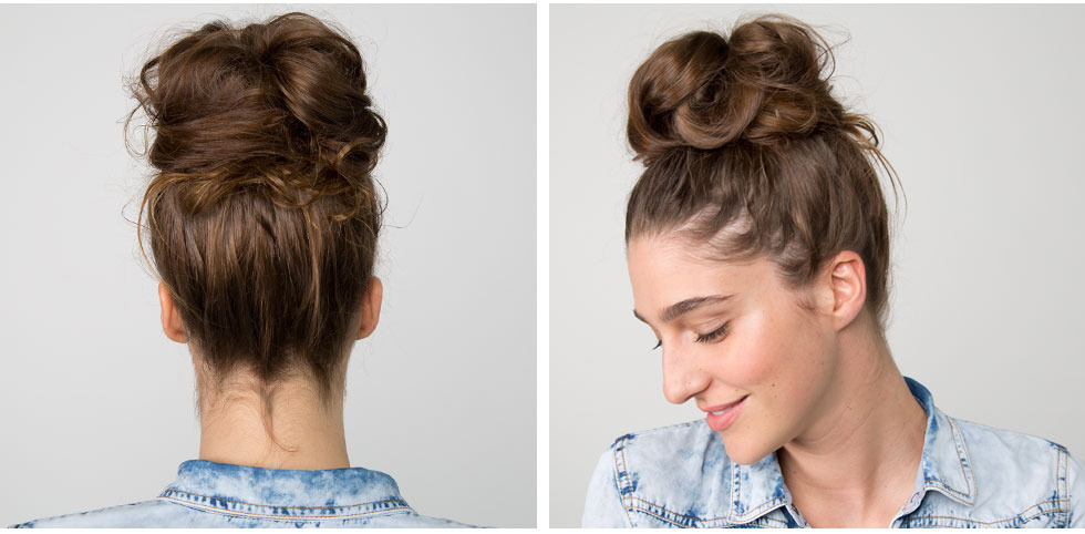 The easiest messy bun in the world beautylish the easiest messy bun in the world urmus Gallery