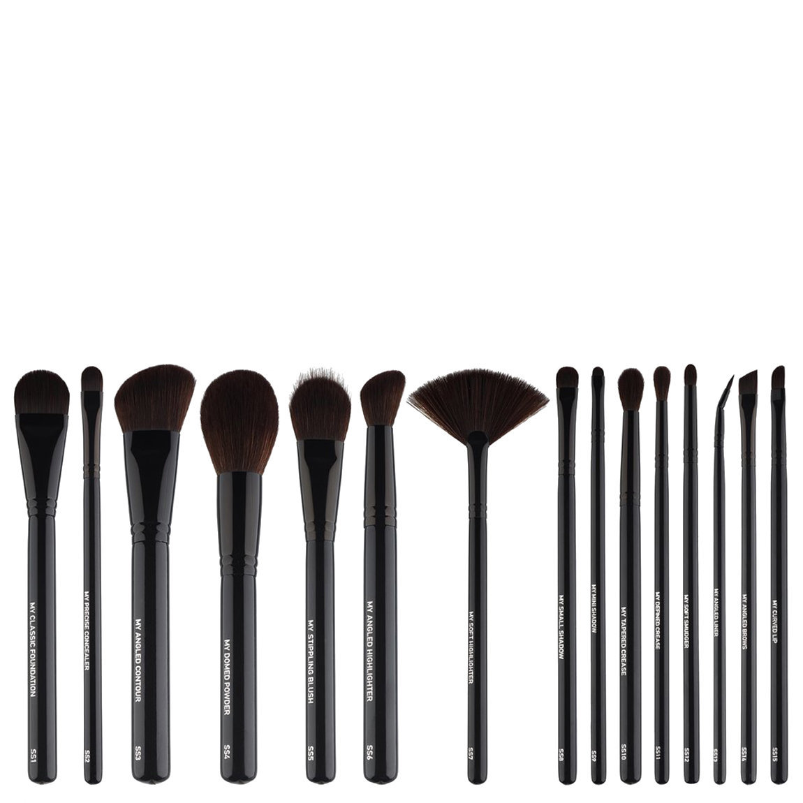 MYKITCO. My Signature Synthetics Brush Collection product swatch.