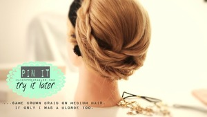Learn how to make this cute updo on your own hair.