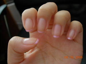 Pearl pink French tips