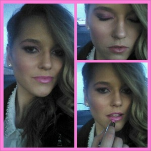 bold pink eyes and lips