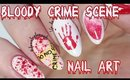 Bloody Crime Scene Nail Art Tutorial
