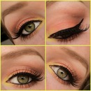 Sunset eyes wearable collage