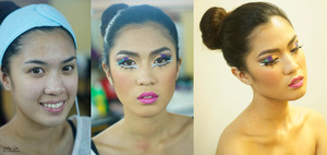 high fashion make up by lesley lim