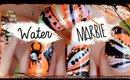 Water Marble Halloween Nail Art Tutorial!